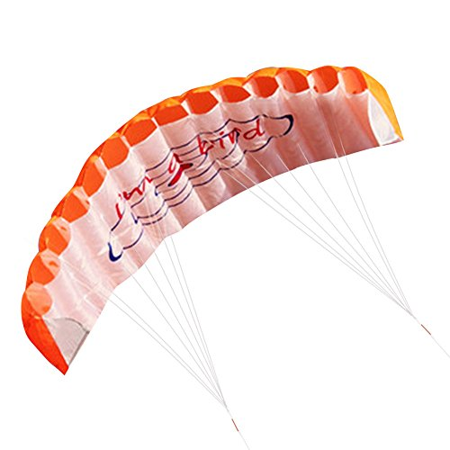 Power Kite Outdoor Kite Double Line Soft Kite Blue Yellow Red Fun Toy Parachute Double Line Surfing (Stroller Toy Blossom)