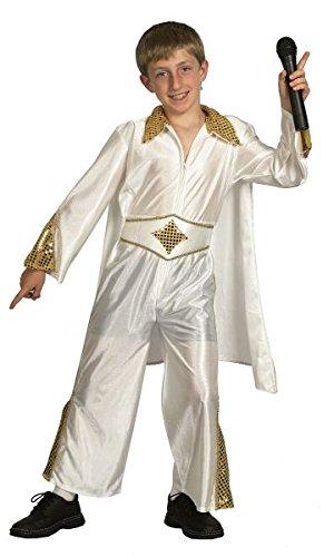 [Medium White Boys Elvis Rock Star Costume] (Elvis Costumes Cape)