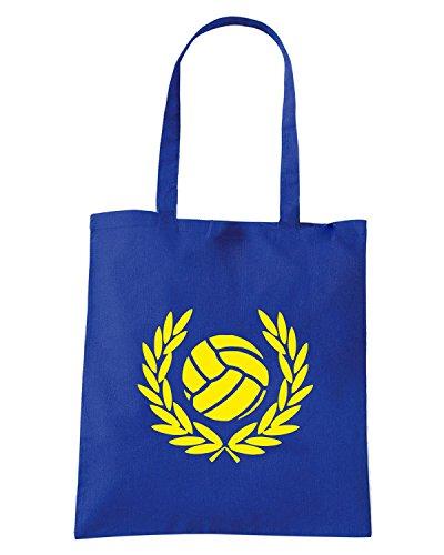 T-Shirtshock - Bolsa para la compra TUM0194 AGAINST MODERN FOOTBALL Azul Real