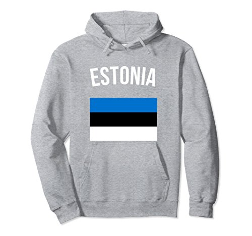 Estonian Hoodie - Estonian Gifts Hooded Sweater Large Heather Grey ()