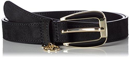 Armani Jeans Women's Logo Detail Belt, black, L by ARMANI JEANS