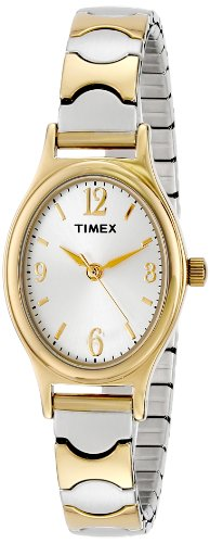 (Timex Women's T26301 Kendall Circle Two-Tone Stainless Steel Expansion Band Watch)