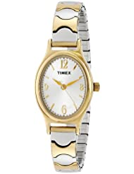 Timex Womens T26301 Kendall Circle Two-Tone Stainless Steel Expansion Band Watch