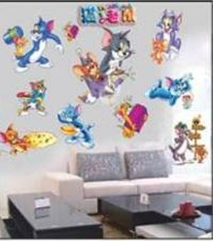 KIDS WALL STICKERS HUGE TOM AND JERRY BEDROOM WALL STICKERS BEDROOM DECAL Part 9