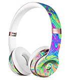 Neon Color Swirls V2 DesignSkinz Full-Body Skin Kit for The Beats by DRE Solo 3 Wireless Headphones/Ultra-Thin/Matte Finished/Protective Skin Wrap