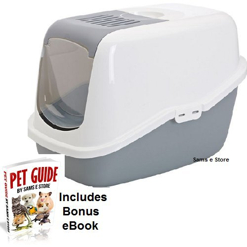 cat litter box tray with cover easy clean hygienic has a deep base come with an
