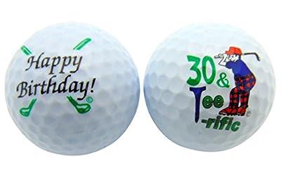Happy 30th Birthday Thirty & TeeRiffic Set of 2 Golf Ball Golfer Gift Pack