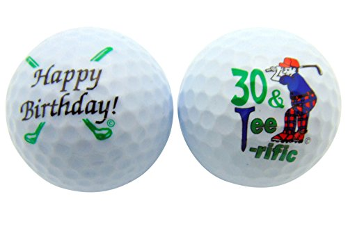 Happy Birthday Golf - Happy 30th Birthday Thirty & TeeRiffic Set of 2 Golf Ball Golfer Gift Pack