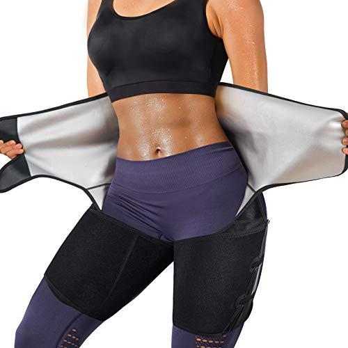 YERKOAD Sauna Sweat Waist Trimmer Thigh for Women & Men Weight Loss Body Shaper Tummy Control Waist Trainer Workout Belt