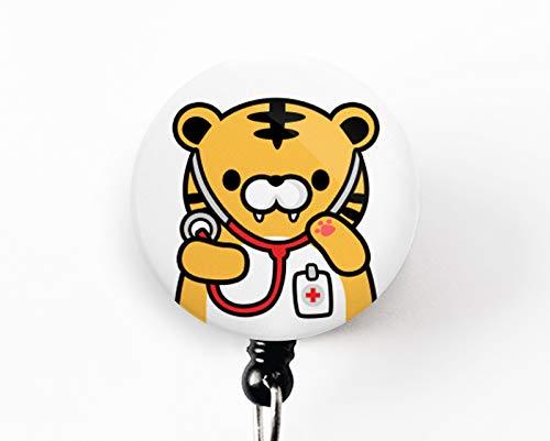 Tiger Badge Reel, Cute Badge Reel, Nurse Badge Reel, Doctor Badge Reel, Nurse Gift, Dog Gift, Veterinarian Badge Reel, Veterinarian Gift, Nursing Student Gift, Medical Student Gift, ()