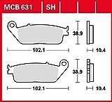 plaquette de freins Lucas MCB631 pour Honda CBR 1000 F SC24 | Honda ST 1100 Pan European SC26 | Honda ST 1100 Pan European ABS SC26 | Honda SW-T Silver Wing 400 NF03 | Yamaha MT-01 RP12 | Yamaha MT-01 RP18 | Yamaha Versity 300 SH01 | Ya