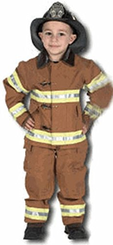 Fireman Costume (Jr. Fire Fighter Suit with helmet, size 6/8 (tan))