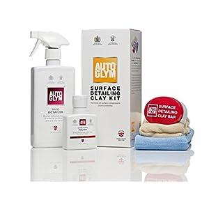 AutoGlym 5 Piece Clay Bar Kit - contains detailer, clay, resin polish & cloths