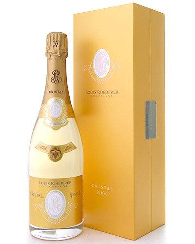 並行 箱入りルイ ロデレール クリスタル ブリュット[2009](泡 白)(ワイン(=750ml)10本と同梱可)  B07JYNWF4P