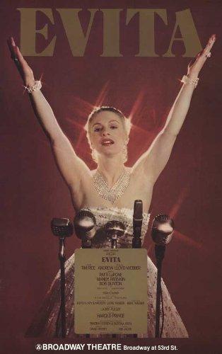 Evita Poster Broadway 1979 - Bob Gunton Patti LuPone Mandy Patinkin Terri Klausner Jane