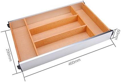 Organizador/cajón ampliable divisores de Cubiertos, cocina Cajón caja de almacenamiento, las vajillas de madera palillos cajón independiente,460 de largo y 290 amplia: Amazon.es: Hogar