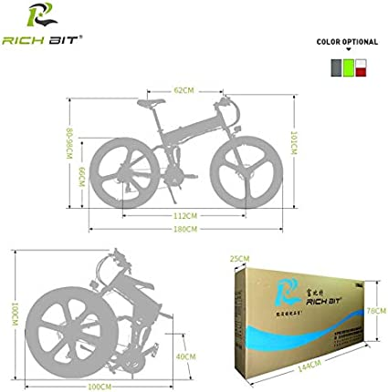 bater/ía de Litio Bicicleta el/éctrica Inteligente Shimano de 21 velocidades 12,8 A Bicicleta de monta/ña Unbekannt Bicicleta el/éctrica RT860 de Rich bit 36 V 26 Pulgadas