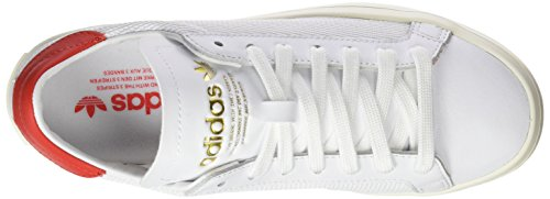 adidas Courtvantage, Basses Mixte Adulte Blanc (Footwear White/Footwear White/Red)
