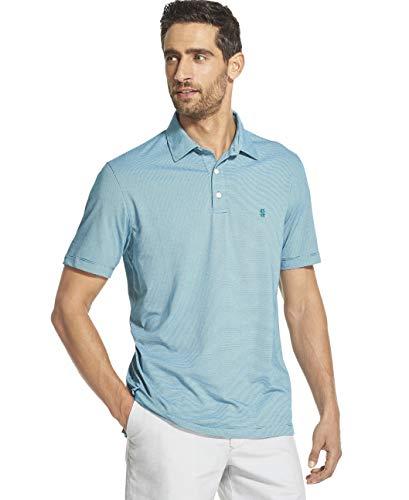 IZOD Men's Breeze Short Sleeve Solid Polo, Blue Radiance, Medium ()