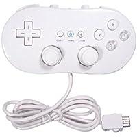 OSTENT Controlador clásico con conexión de cable Compatible para Nintendo Wii Remote Console Video Game Color Blanco
