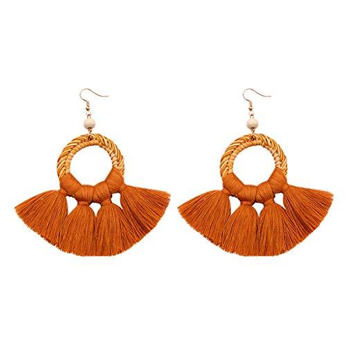 Fashion Drop Dangle Girls Boho Earrings,Londony◈ Bohemian Retro Rose Gold Tassel Earrings Pink Fringe Gifts for Women.