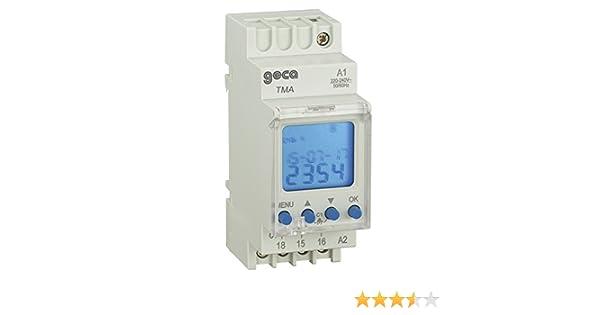 Interruptor horario digital astron/ómico GECA 32152389 2 canales