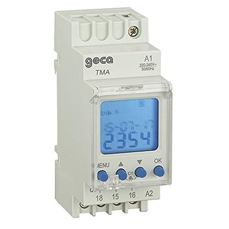 Interruttore orario digitale modulare 1 Rel/è TM1N 24-264V GECA 32001949