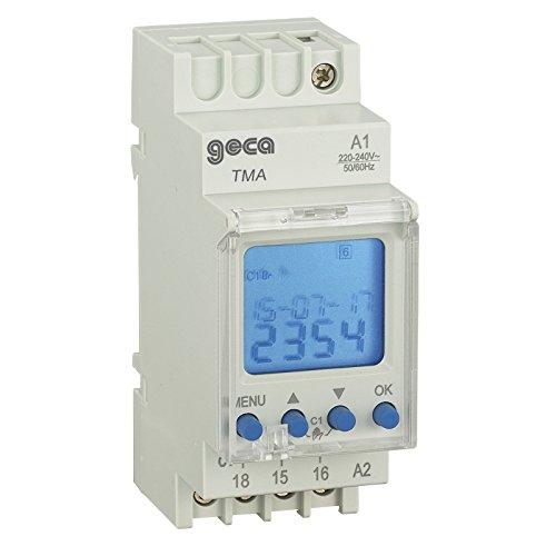 Interrupteur horaire num/érique modulaire 1/relais TM1/ /Geca 32001949