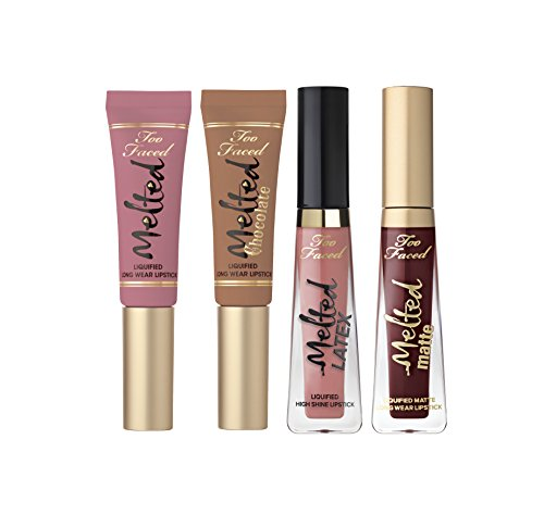 Too Faced Under the Kissletoe Ultimate Liquified Lipstick Set 4 Piece Melted Matte (Chihuahua 4 Long Coat)