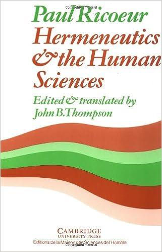 com hermeneutics and the human sciences essays on  com hermeneutics and the human sciences essays on language action and interpretation cambridge philosophy classics 9780521280020 paul ricoeur