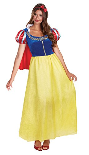 [UHC Women's Disney Snow White Deluxe Princess Fancy Dress Halloween Costume, 2XL (22-24)] (Cheap Adult Disney Princess Costumes)