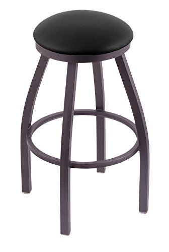 "416GJqSinCL - 802 Misha 25"" Counter Stool with Pewter Finish and Swivel Seat"