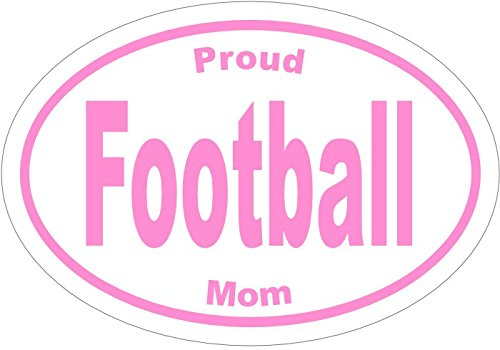 PROUD FOOTBALL MOM PINK Vinyl Decal Sticker - Great for Truck Car Bumper or Tumbler - Perfect Football Mother Gift, Made in the USA
