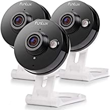 Funlux Wireless Two-Way Audio Home Security Camera (3 Pack) Smart HD WiFi IP Cameras with Night Vision (Renewed)