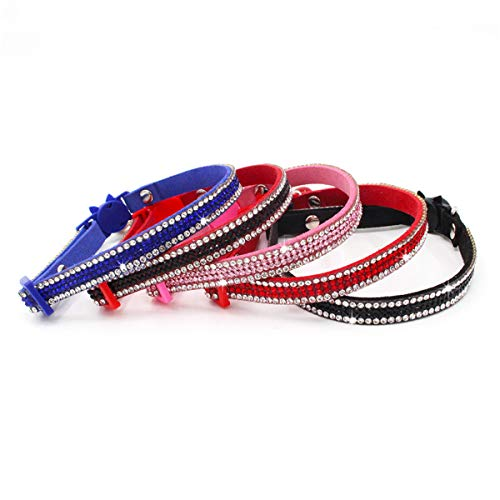 LANDZOO Bling Rhinestone Cat Collar with Bell Breakaway Adjustable Collar for Cat and Kittens