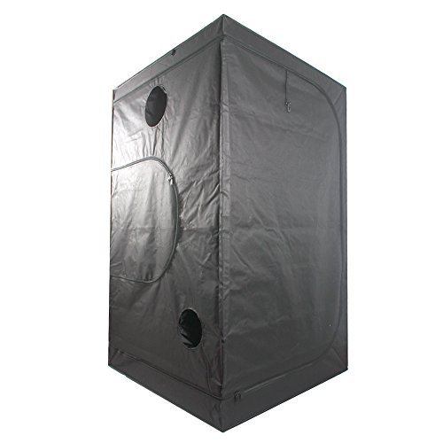 """416GLBRKd7L - Ipomelo 48""""x48""""x80"""" 600D Mylar Hydroponic Grow Tent with Floor Tray for Indoor Plant Growing 4'x4'"""