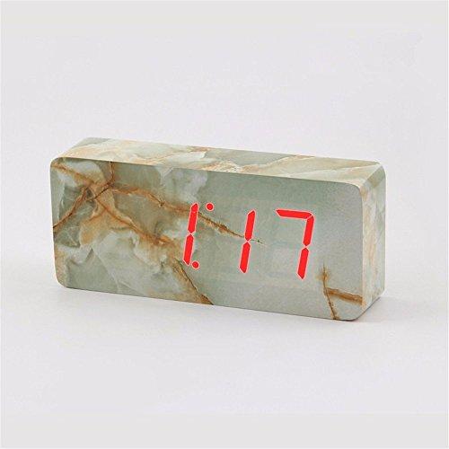 Sound environmental LED wood clock creative clock - 8