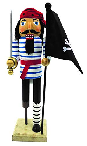 - Santa's Workshop Peg Leg Pirate Nutcracker with Flag 14