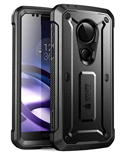 SupCase Unicorn Beetle Pro Series Case for Moto G6 Play, Moto G6 Forge, with Built-in Screen Protector for Motorola Moto G6 Play (2018 Release), Retail Package (Black) (Phones Mobile Boost Case G Moto)