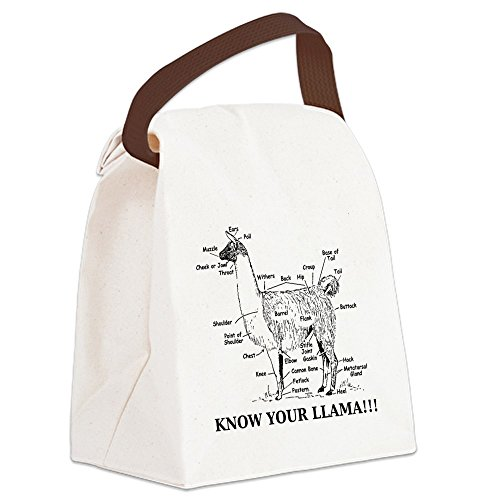 CafePress - 925746_10477594_llama_orig Canvas Lunch Bag - Canvas Lunch Bag with Strap Handle (Box Orig)