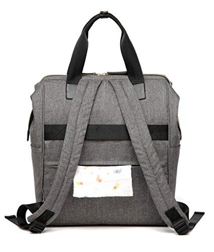 LCY elegante multifunción mochila bolso cambiador bolsa con cambiador beige caqui gris