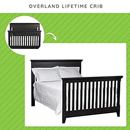 Full Size Conversion Kit Bed Rails for Baby Cache Overland /& Vienna Cribs Antique White