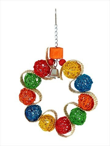 Paradise Vine Ball Braided Wreath Pet Toy, 7.5 by 1 by 7.5-Inch ()