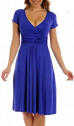 TINYHI Women Maternity Jersey Flare Baby Shower Dress Short Sleeves