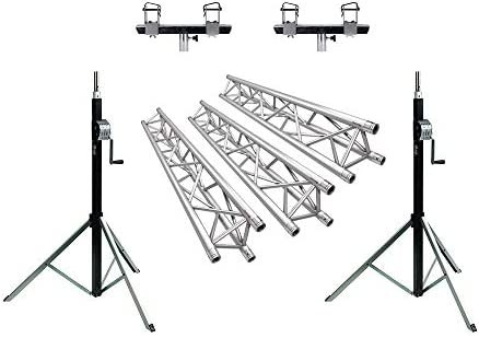 Showtec Truss Wind Up DJ Bundle 6 m x 4 m Gantry Tri Trussing Lighting Bar Heavy Duty