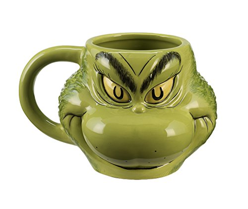 Dr. Seuss Grinch Sculpted Ceramic Mug 17001