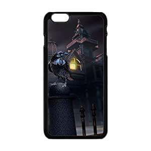 Happy Halloween ghost house black owl Case for iPhone 6 plus 5.5""