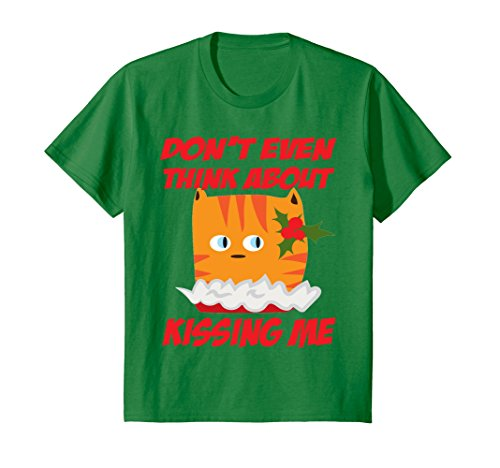 Price comparison product image Kids Sarcastic Christmas Kitty Shirt - Funny Cat Meme 8 Kelly Green