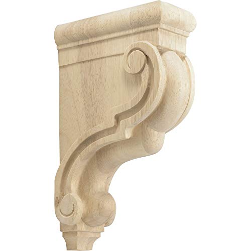 Rubberwood Decorative Wood Corbel Countertop Support 7-3/4
