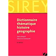 Dictionnaire thématique - histoire géographie